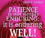 enduring patience