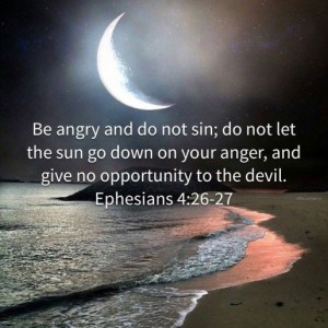 be angry sin not